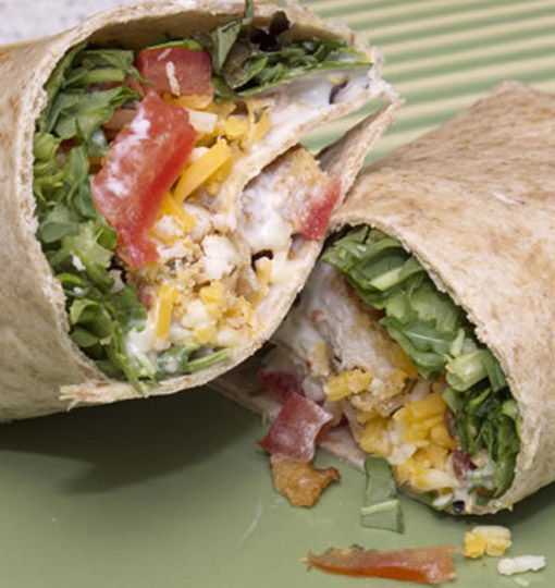 how to make chicken ranch wraps